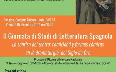 II Giornata di Studi di Letteratura Spagnola. Cassino, Campus Folcara, 15.12.2017